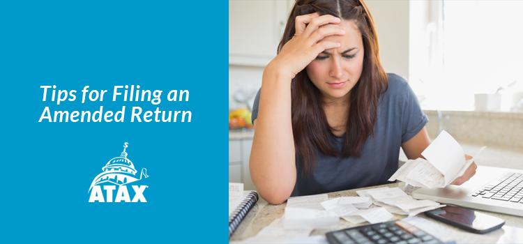 Tips for Filing an Amended Return